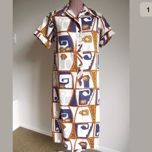 Rare find 💥 Vintage Lanvin 70s mod abstract dress